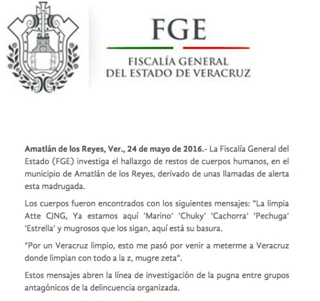 Fiscalía Veracruz