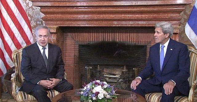 Netanyahu con el secretario de Estado de EEUU, John Kerry