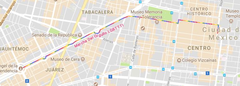 Calles cerradas por marcha del orgullo LGBT+