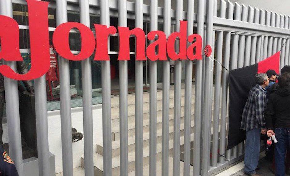 La Jornada huelga por reducciones en contrato colectivo