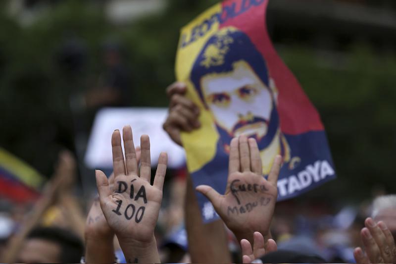 A cien días del encarcelamiento de Leopoldo López - marchas