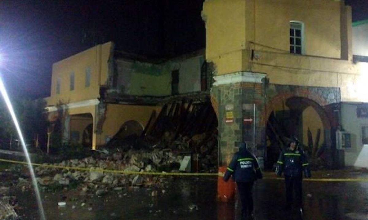 San petitlán, tlaxcala, colapsa portal, portal hidalgo, portal tlaxcala,