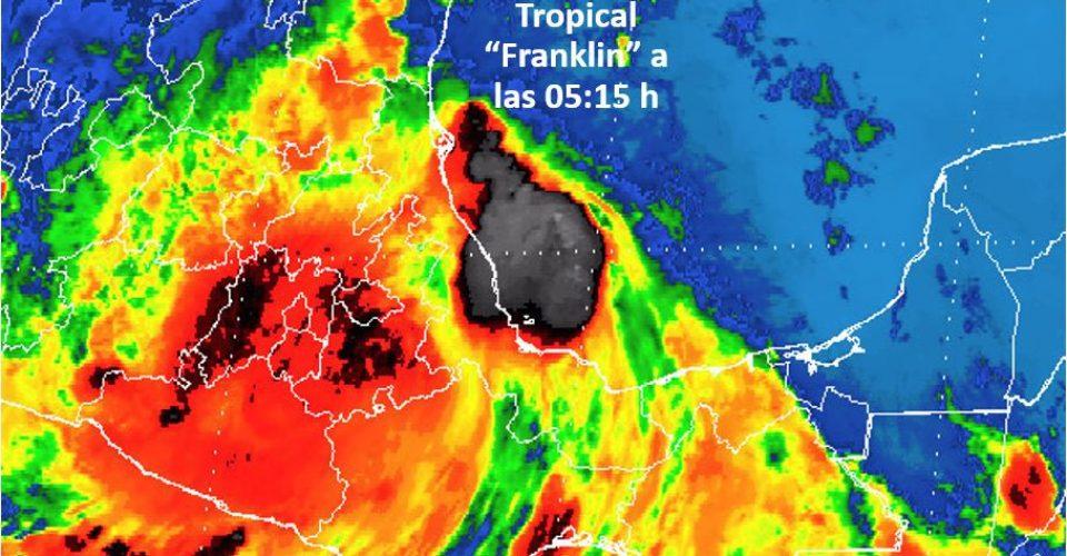 Franklin en CDMX genera alerta amarilla