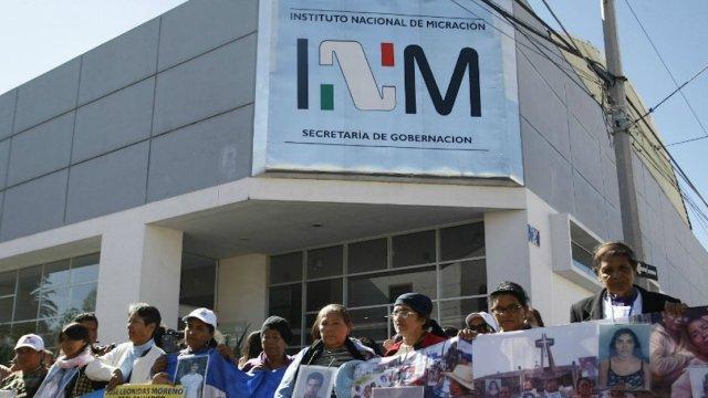 INM, migración, intalaciones migración, derechos migrantes, protestas migración, desaparición forzada, guatemalteca