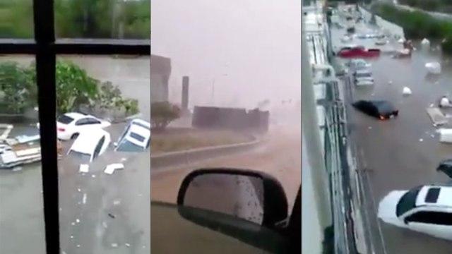 lluvias, nuevo león, video, santa catarina, inundaciones, autos arrastrado