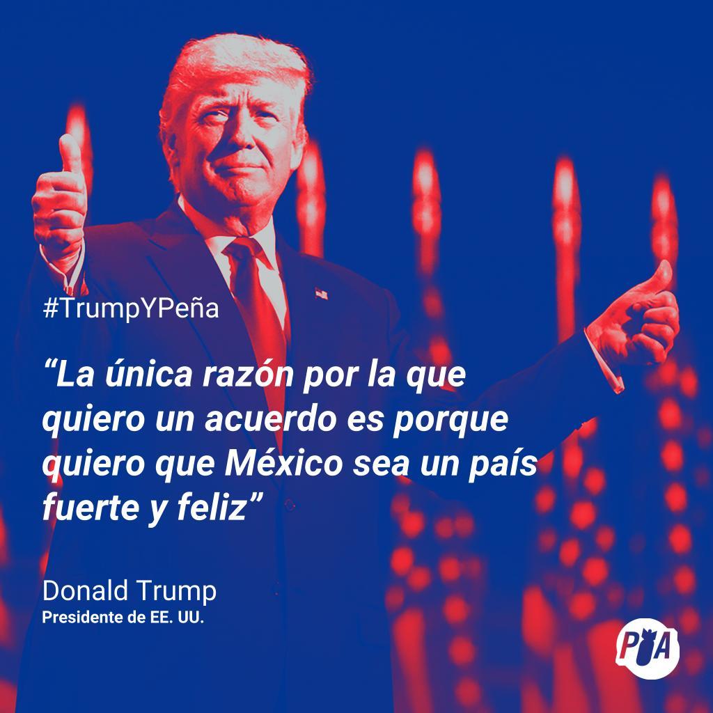 Trump dice que dicen que ama a México