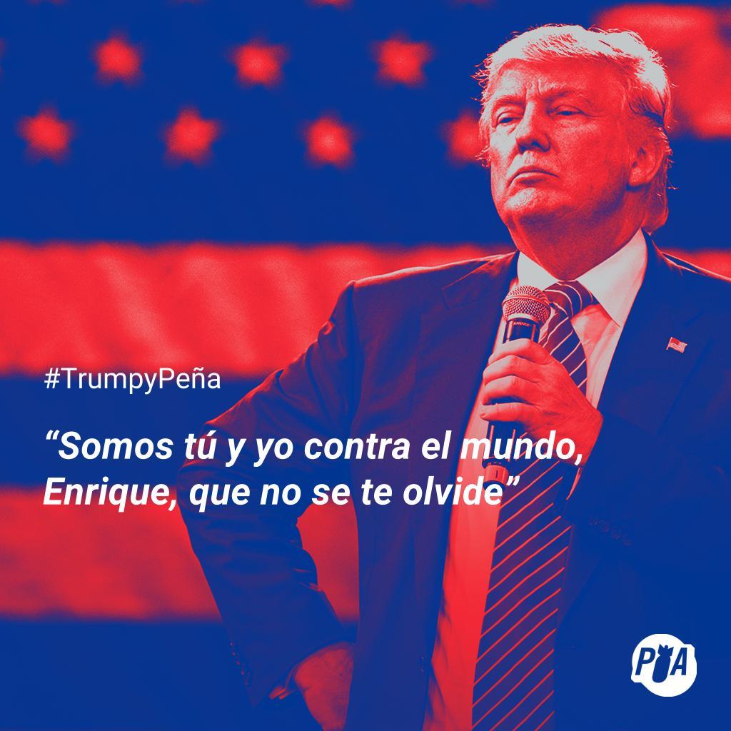 Trump declara su amor a Peña Nieto