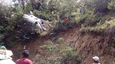 Helicóptero se desploma en Oaxaca con víveres