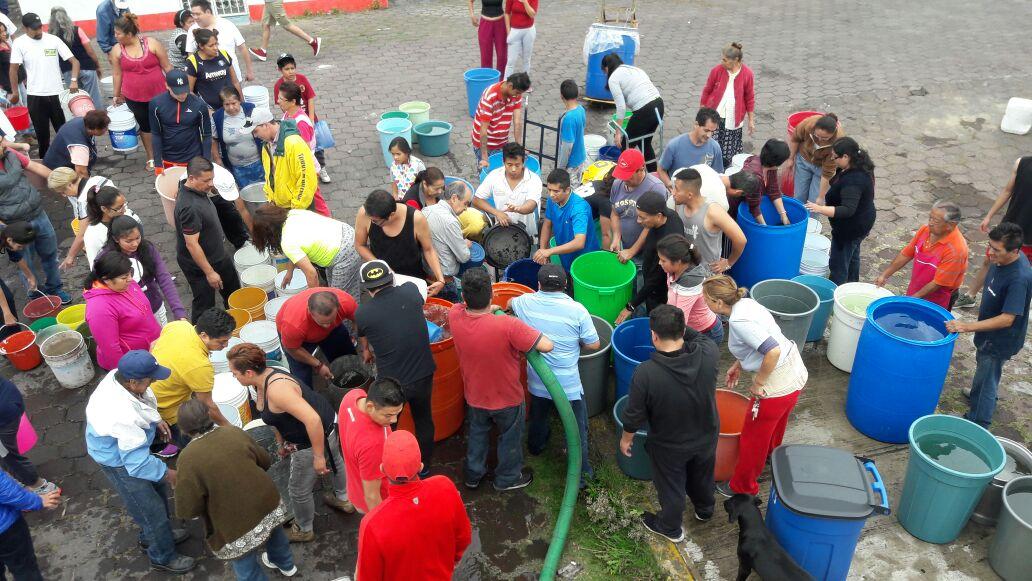 Iztapalapa sin agua tras sismo del martes