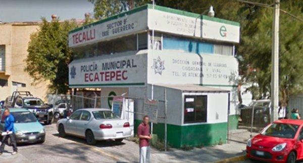 Robo armas Ecatepec policía