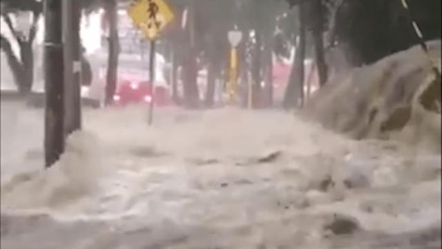 Xochimilco inundado por lluvias en CDMX