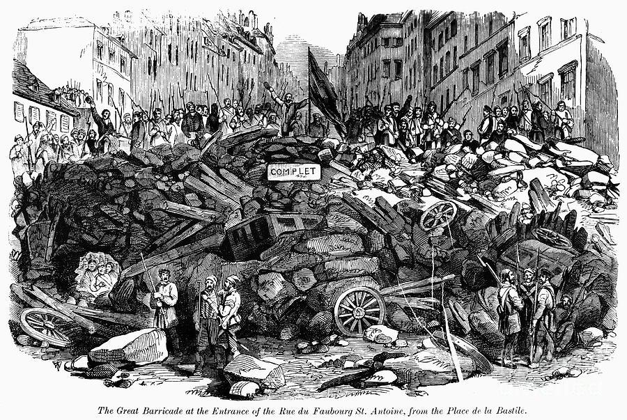 Revolución francesa de 1848, grabado de Doré