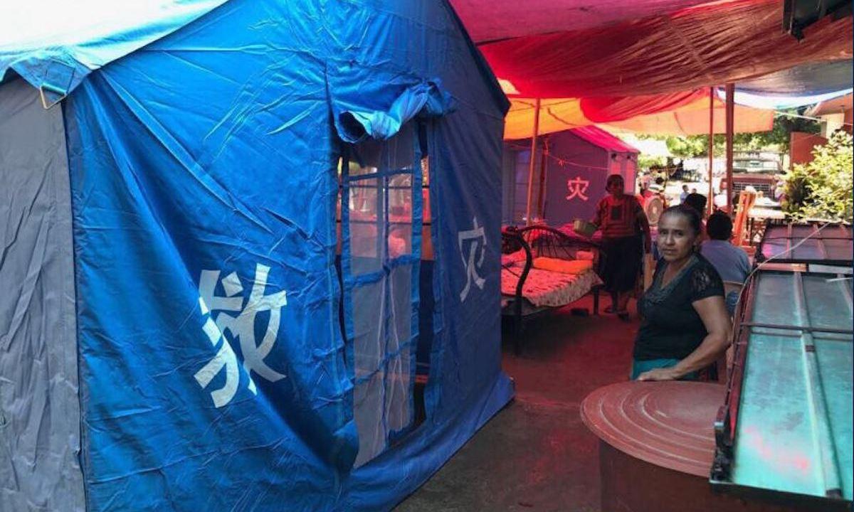 casas de campaña, sismo, juchitán, morelos, jojutla, damnificados