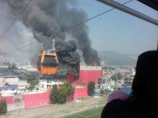 Incendio fábrica de colchones