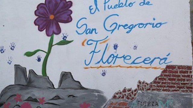 mural en san gregorio xochimilco pintado por niños