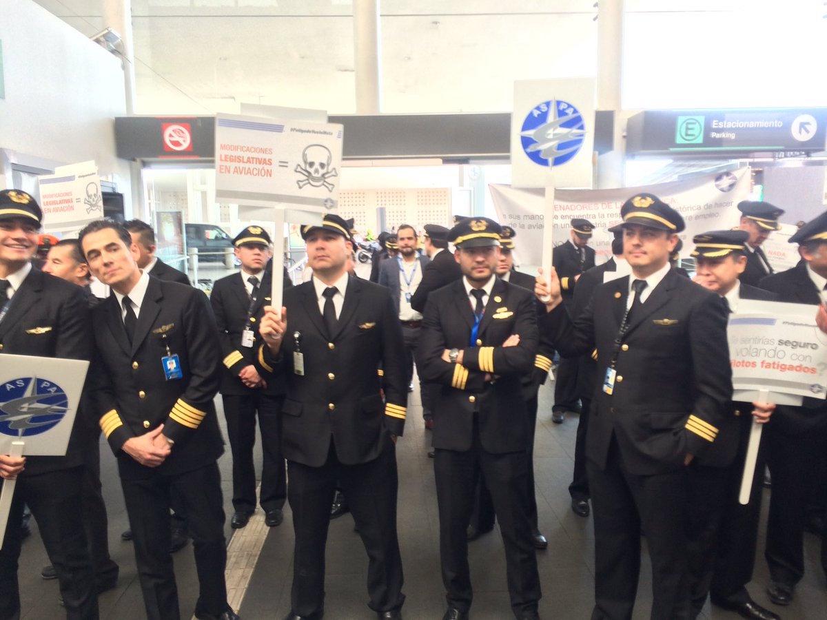 protestas de pilotos de aeromexico por condiciones laborales