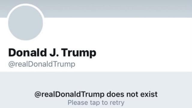 Por 11 minutos, Twitter canceló la cuenta de Trump
