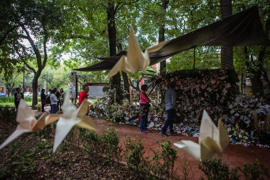 Memorial en Parque México a las víctimas del sismo 19S