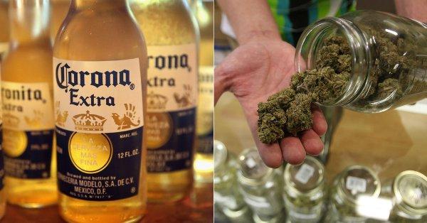 marihuana cerveza