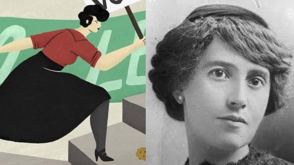 Google celebra 139 años de la feminista elvia carrillo