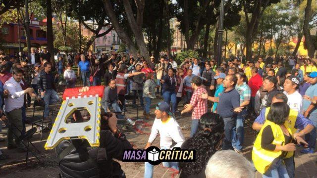 Morenistas chocaron contra perredistas en Coyoacán