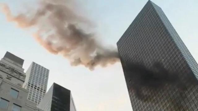 Incendio en Torre Trump deja dos heridos, uno de gravedad