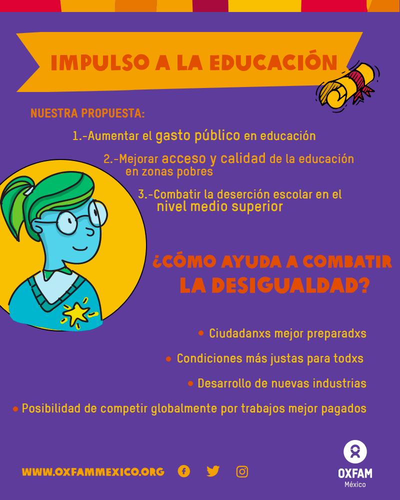 Educación: una de las medidas contra la desigualdad que propone Oxfam