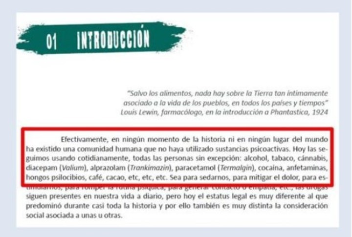 Para combatir drogas, gobierno español repartió folletos con instrucciones para usarlas