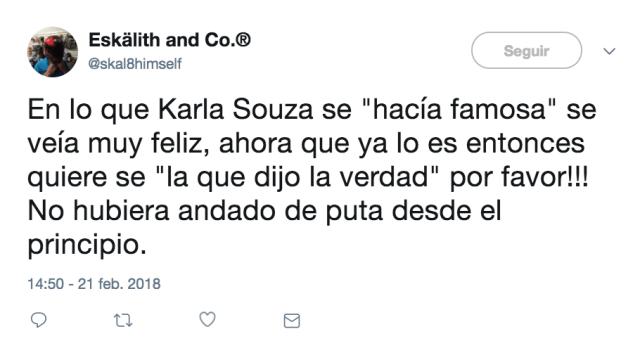 Reacciones a la denuncia de Karla Souza en redes sociales