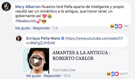 EPN respondió a comentarios en Facebook