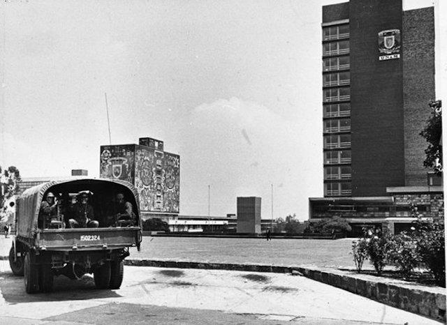 UNAM 68 ejército
