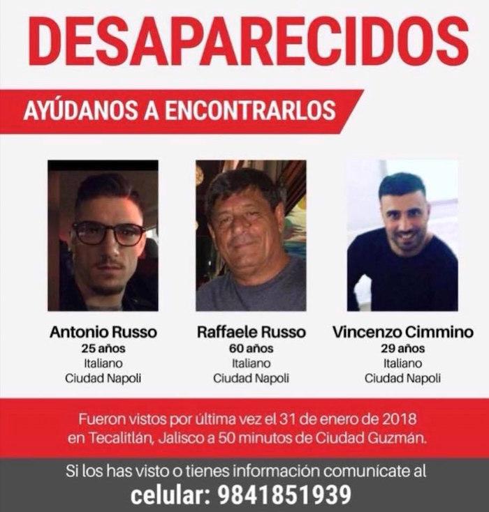 Todo lo que sabemos de los italianos desaparecidos en Jalisco
