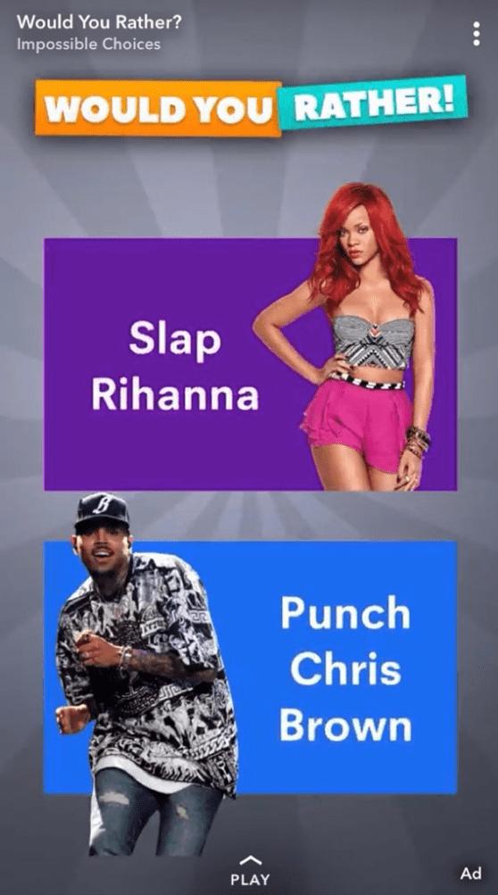 Snapchat se burla de la golpiza de Chris Brown a Rihanna, pierde millones de dólares por ello