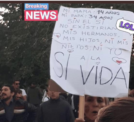 cartel aborto pedofilia marcha argentina provida