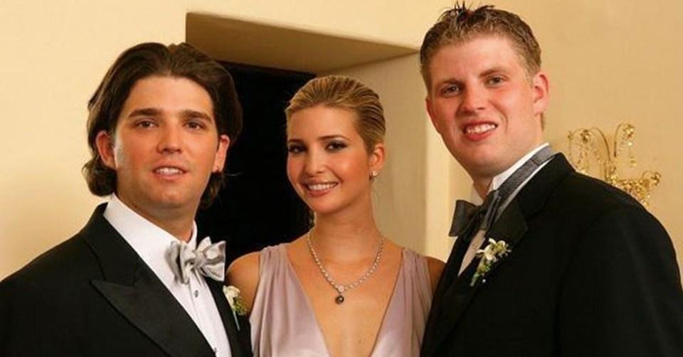 Hijos de Trump en boda de Donald Jr.