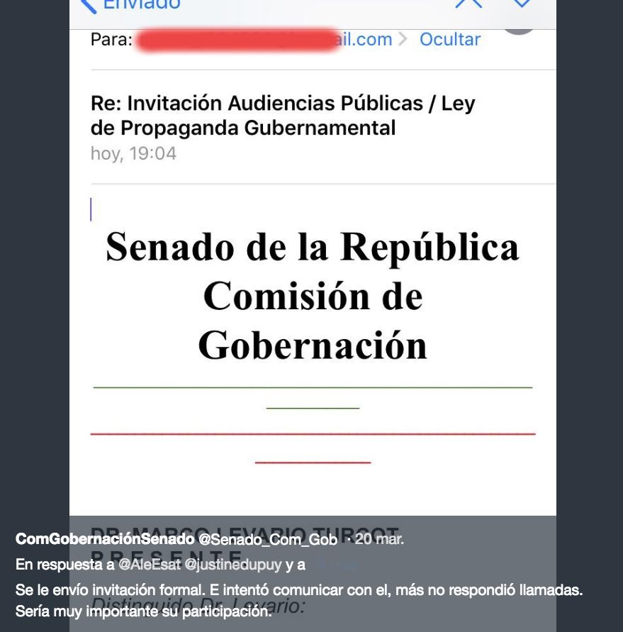Olvidan invitar ponentes a audiencia de ley de propaganda gubernamental