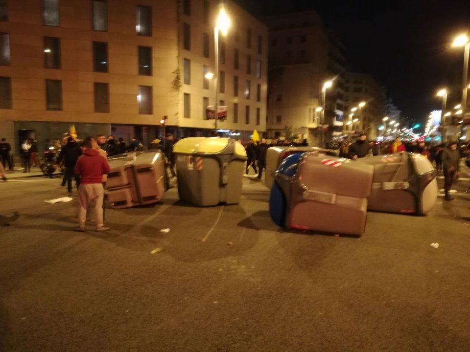 Manifestaciones en Barcelona tras detención de Puigdemont