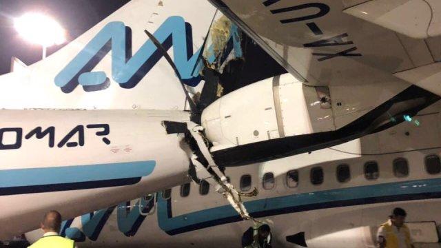 Chocan dos aviones en el Aeropuerto Internacional de CDMX