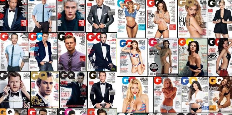 Hombres de traje y mujeres semidesnudas: así son las portadas de GQHombres de traje y mujeres semidesnudas: así son las portadas de GQ