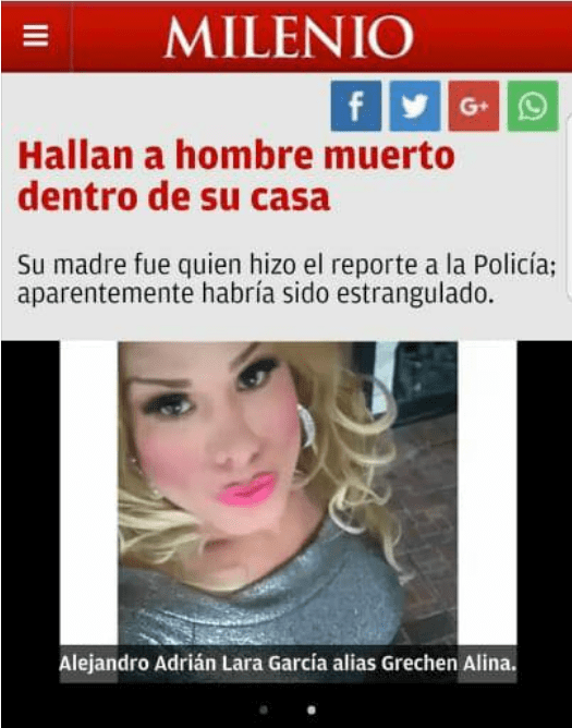 Gretchen Alina guadalupe Transgenero trans mujer