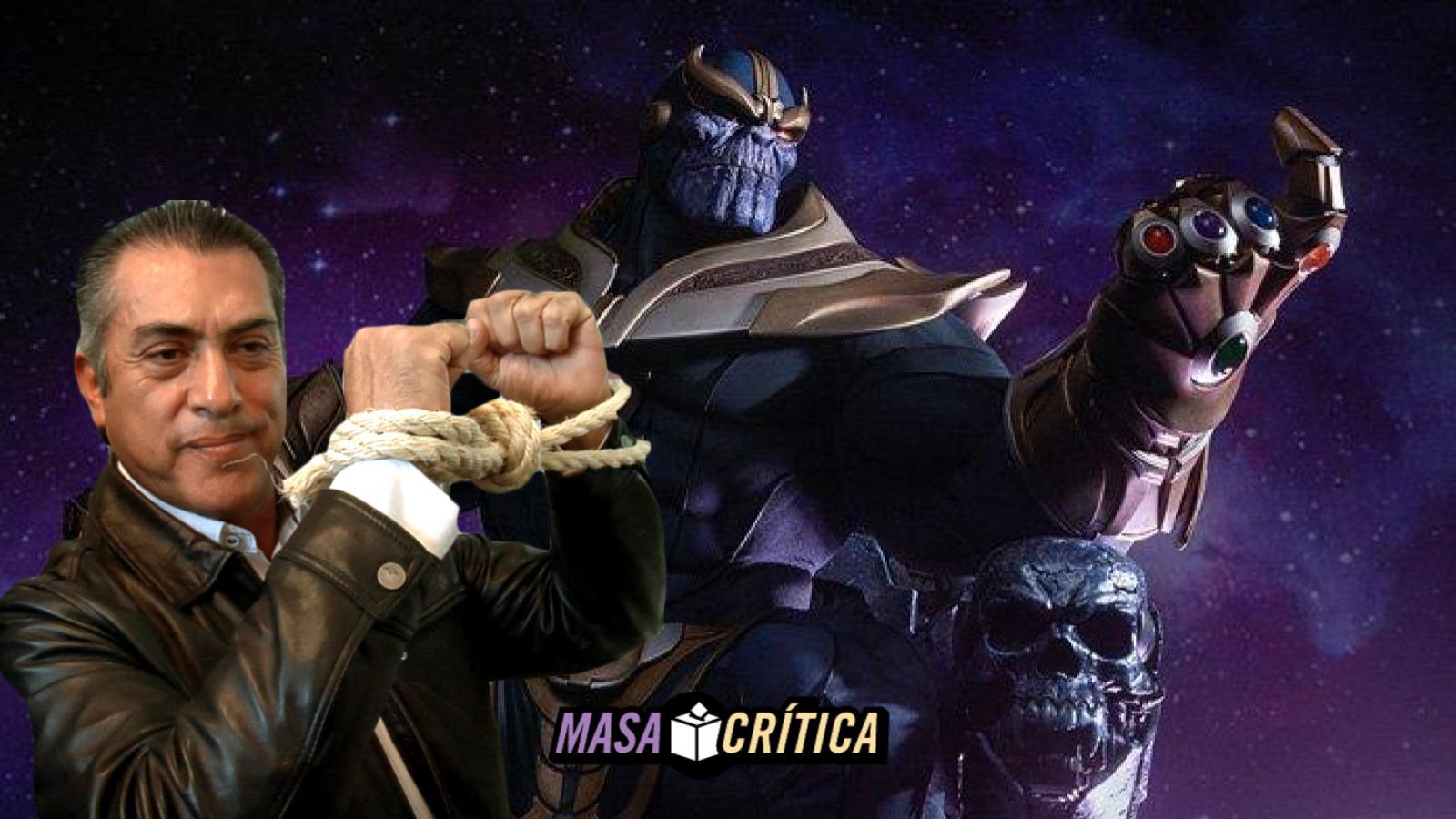 Thanos roba gemas del infinito; Bronco amenaza con mocharle la mano