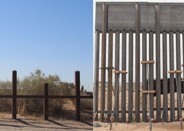 En Nuevo México reemplazan de 32 km de valla fronteriza, que no es muro
