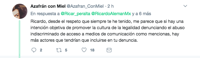 Ricardo Alemán Tuit Denuncia Penal AMLO