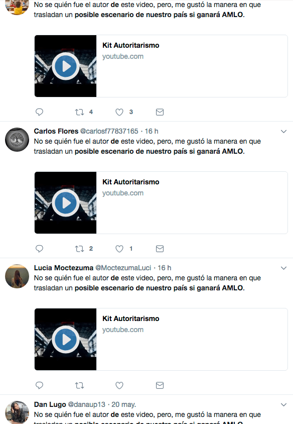 bots impulsando video del kit autoritario
