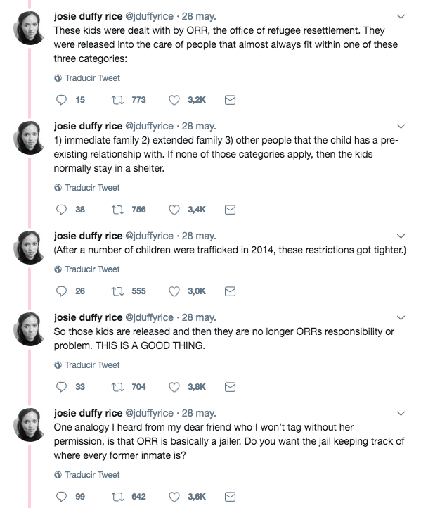 Explicación de qué fue de los menores en custodia de ICE