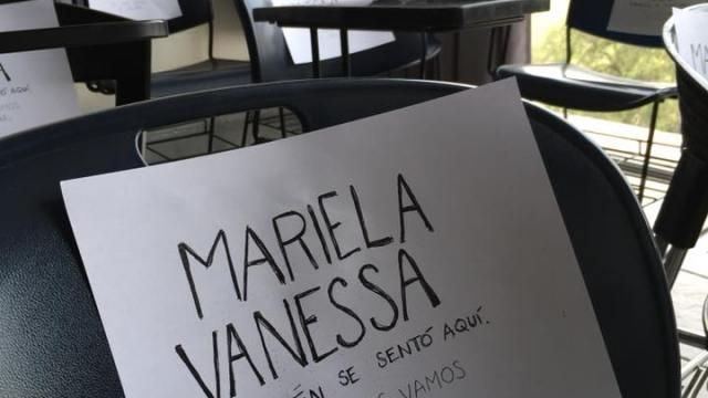 Protesta por desaparición de Mariela Vanessa en FFyL
