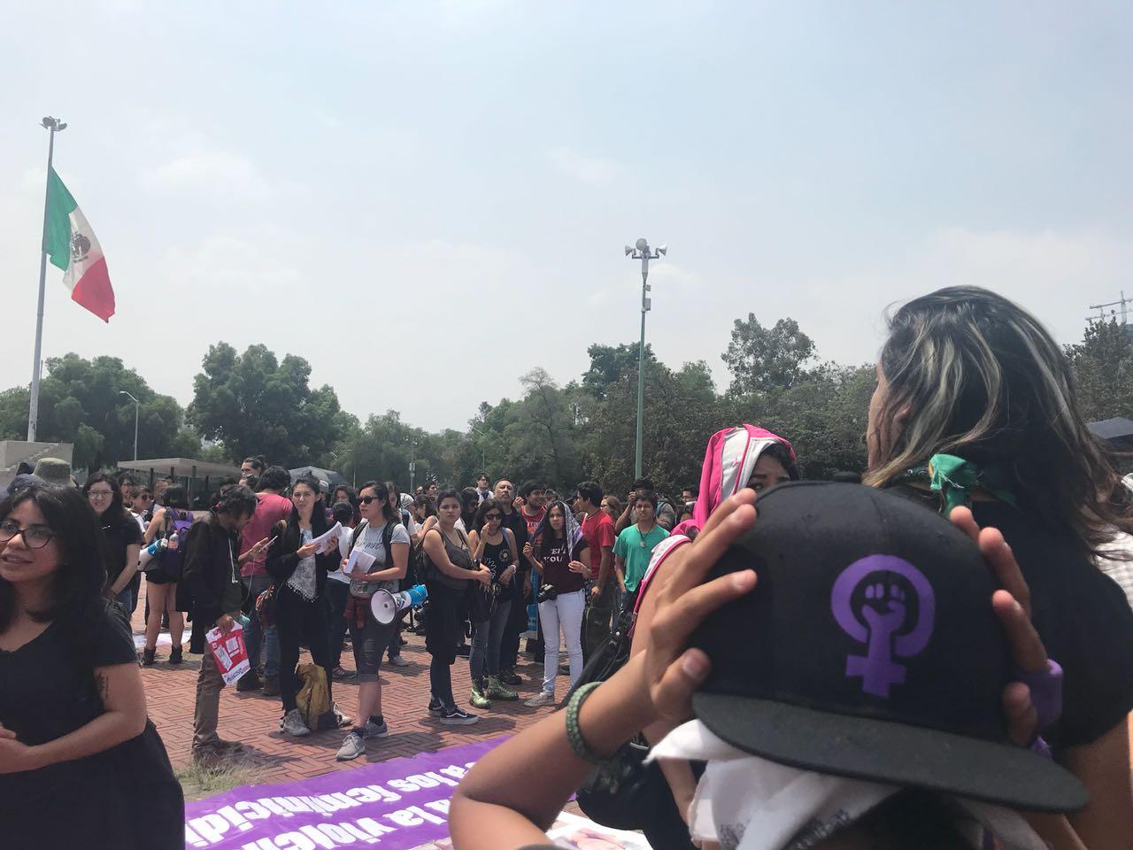 Marcha por Lesvy en CU a un año de su feminicidio