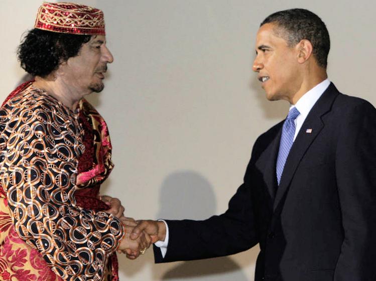 Reunión entre Gaddafi y Obama cuando se negoció el tema nuclear