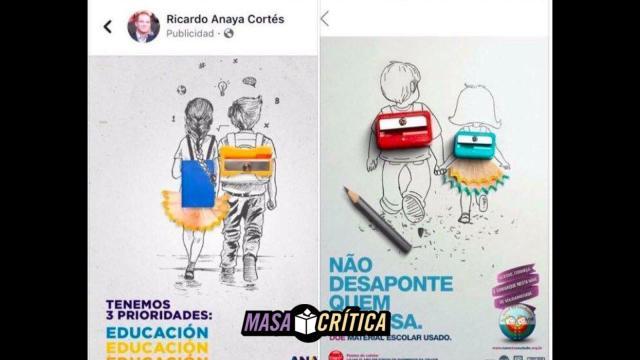 Denuncian plagio en imágenes de la campaña de Anaya