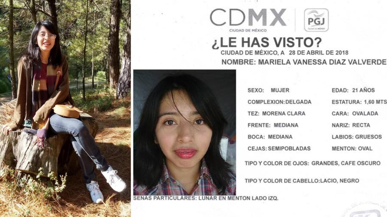 Reportan desaparición de Vanessa Días, estudiante de la UNAM